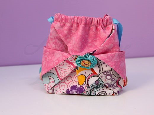 Bolso hecho con patchwork.