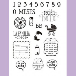 "Stamp clear artis decor ""recien nacido"""