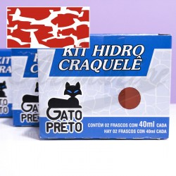 Kit hidro craquele gato preto 80ml nº613 casis